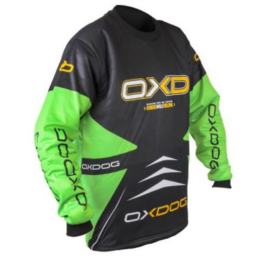 Oxdog Vapor Goalie Shirt Black/Green Senior