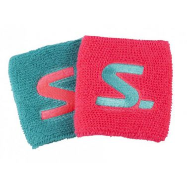 Salming Wristband 2-Pack Diva Pink/Turquoise potítka