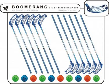 Set MPS Boomerang Blue (12 hokejok)