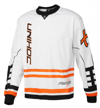 Unihoc Feather White/Orange SR brankársky dres