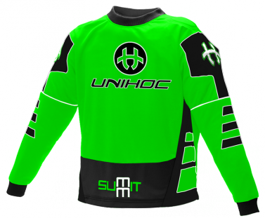 Unihoc Summit Neon Green Junior brankársky dres