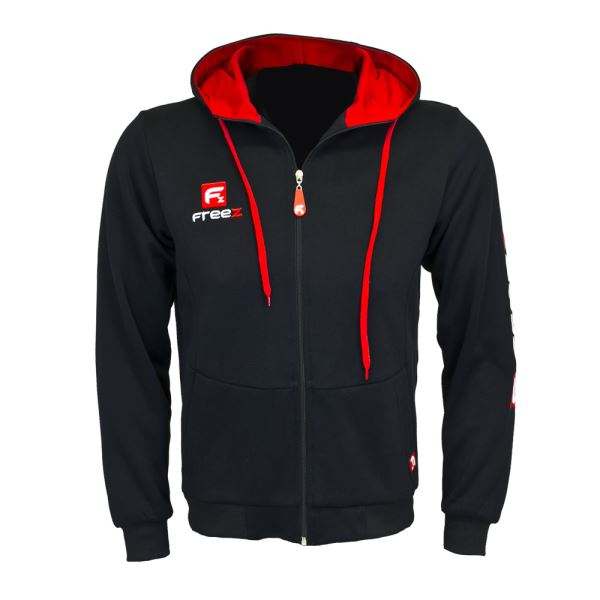 Freez Victory Zip Hood Black/Red mikina