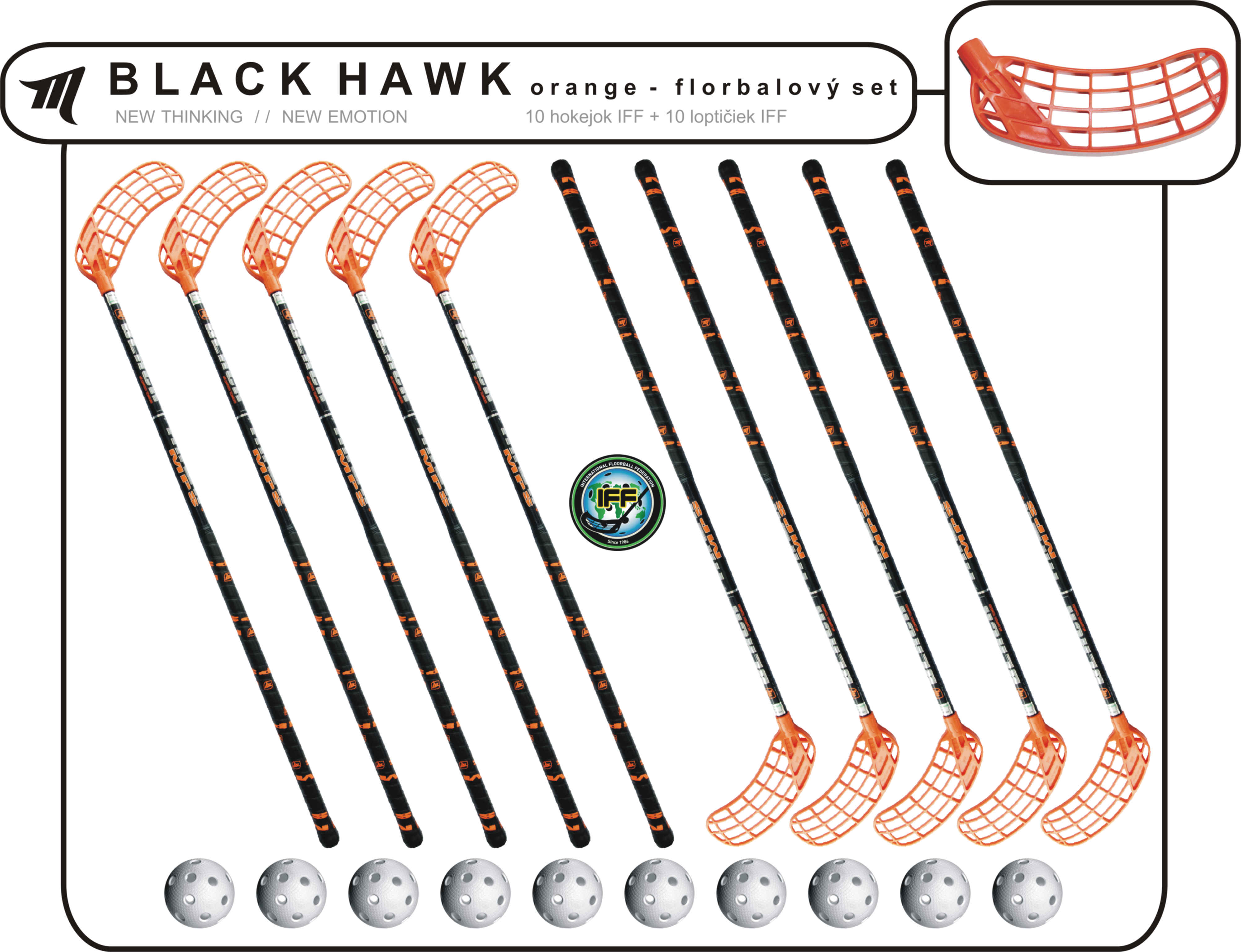 Set MPS Black Hawk (10 hokejok)