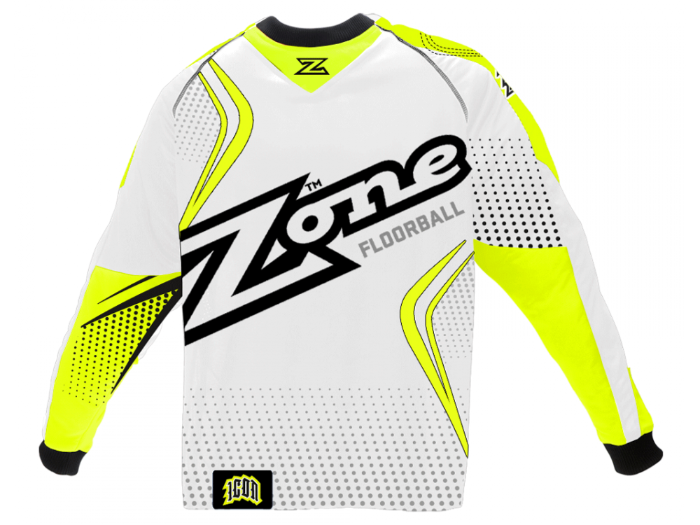Zone Icon MEGA White/Yellow brankársky dres