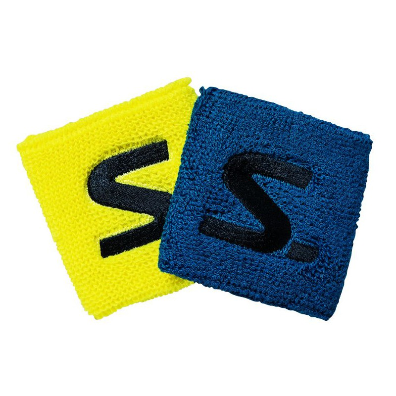 Salming Wristband 2-pack Electric Blue/Safety Yellow
