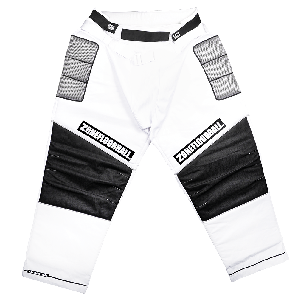 Zone Monster White/Black JR brankárske nohavice