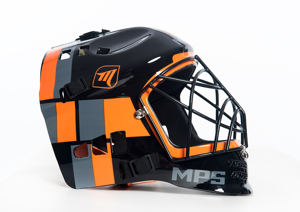 MPS Black/Orange helmet