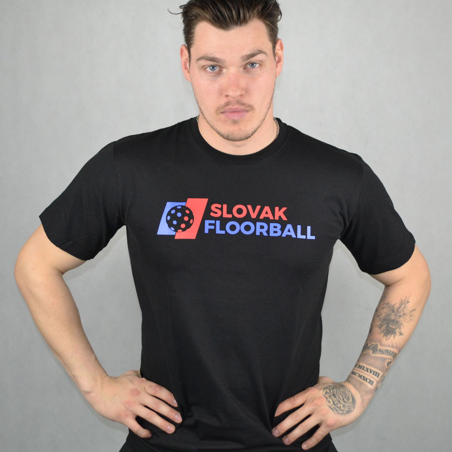 Slovak Floorball Black T-shirt