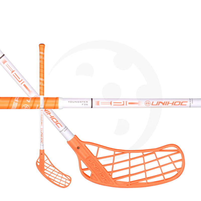 Unihoc Epic Youngster 36 Neon Orange/White 18/19