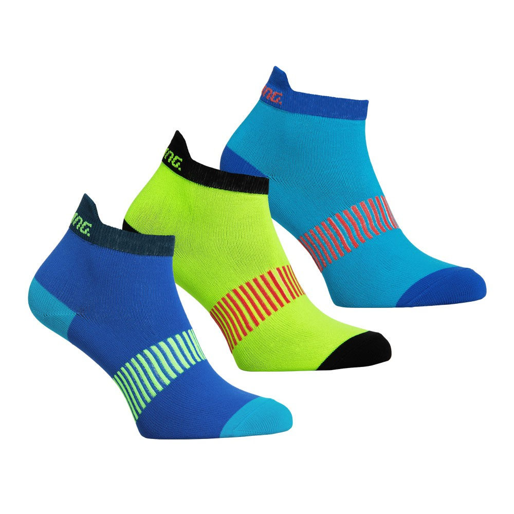 Salming Performance Ankle Sock 3-pack Blue/Mixed