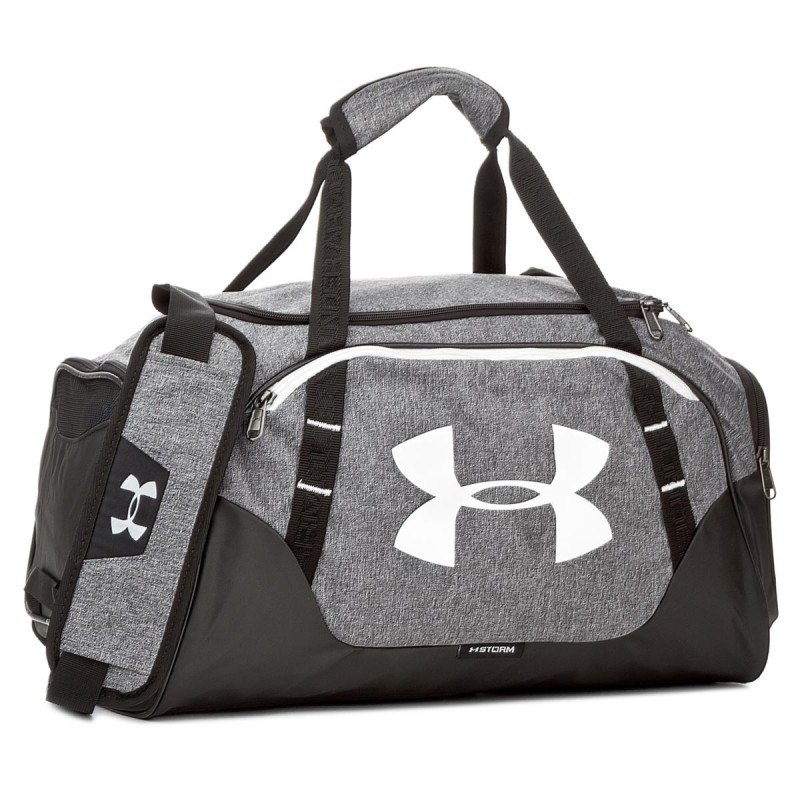 Under Armour Undeniable Duffle 3.0 SM Grey White ... 68cb1afe57f
