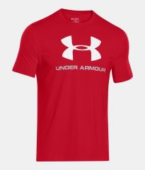 Under Armour CC Sportstyle Logo Red tričko