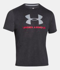 Under Armour CC Sportstyle Logo Grey tričko