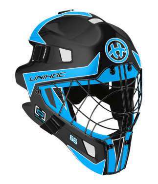 Unihoc Optima 66 Black/Blue brankárska maska