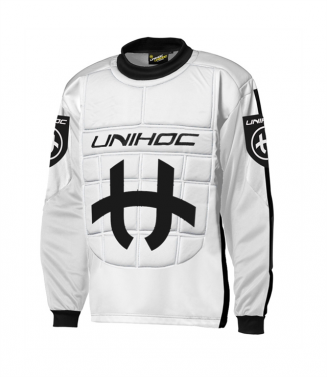 Unihoc Shield JR White/Black brankársky dres