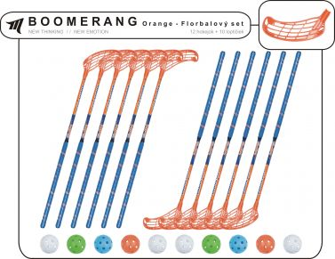 Set MPS Boomerang Orange (12 hokejok)