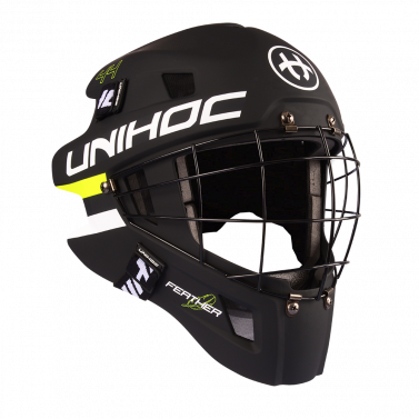 Unihoc Feather 44 Black/Neon Yellow brankárska maska