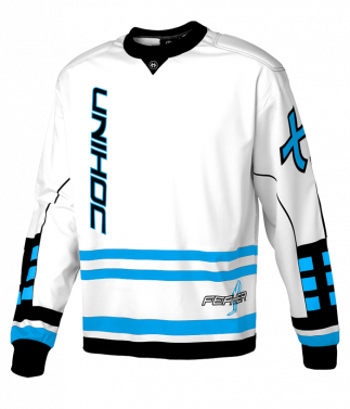 Unihoc Feather Senior brankársky dres White/Blue