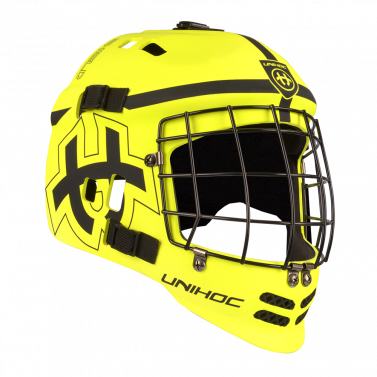 Unihoc Shield Yellow/Black brankárska maska