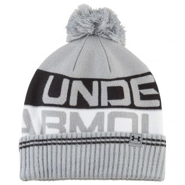 Under Armour Men's Retro Pom Beanie 2.0 Grey