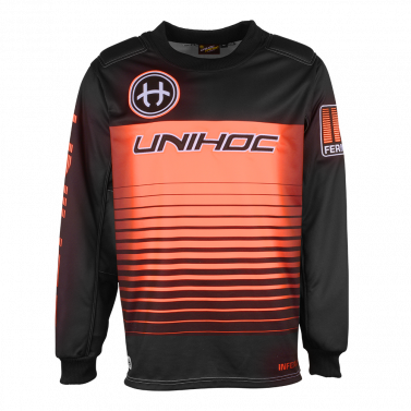 Unihoc Inferno Black/Neon Orange JR brankársky dres