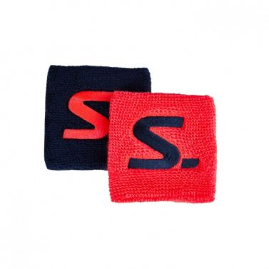 Salming Wristband Short 2-pack Coral/Navy 18/19