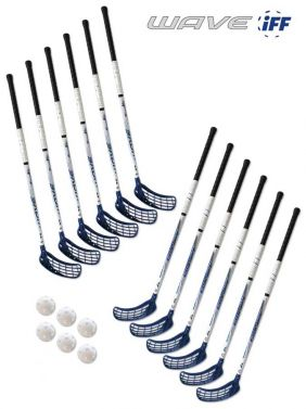 Eurostick Wave Blue IFF Set (12 hokejok)