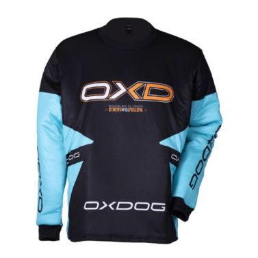 Oxdog Vapor Goalie Shirt Tiff Blue/Black Junior
