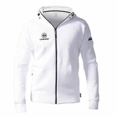 Unihoc Hood Zip Technic White JR