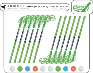 Set MPS Jungle Mini Green/Navy (10 hokejok)