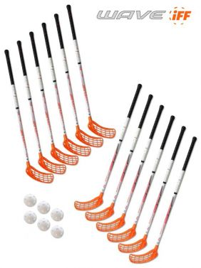 Eurostick Wave Orange IFF Set (12 hokejok)