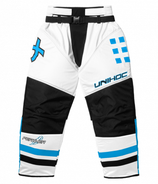 Unihoc Feather Junior brankárske nohavice White/Blue