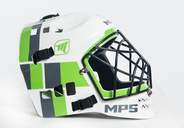 MPS White/Green helmet