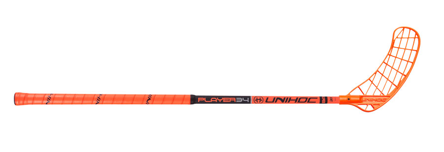 Unihoc Player 34 Neon Orange/Black 19/20