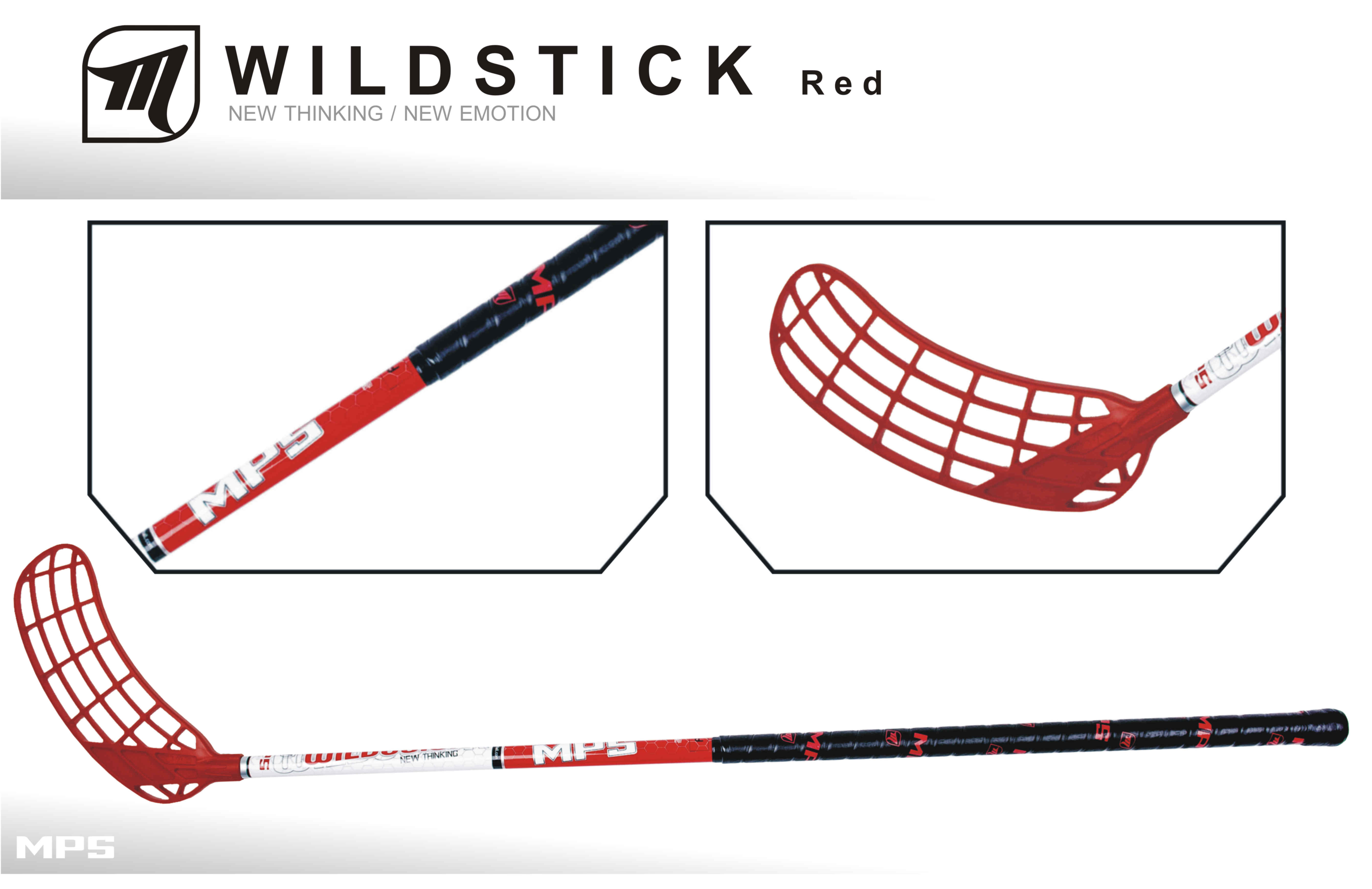 Set MPS Wildstick Red (12 hokejok)