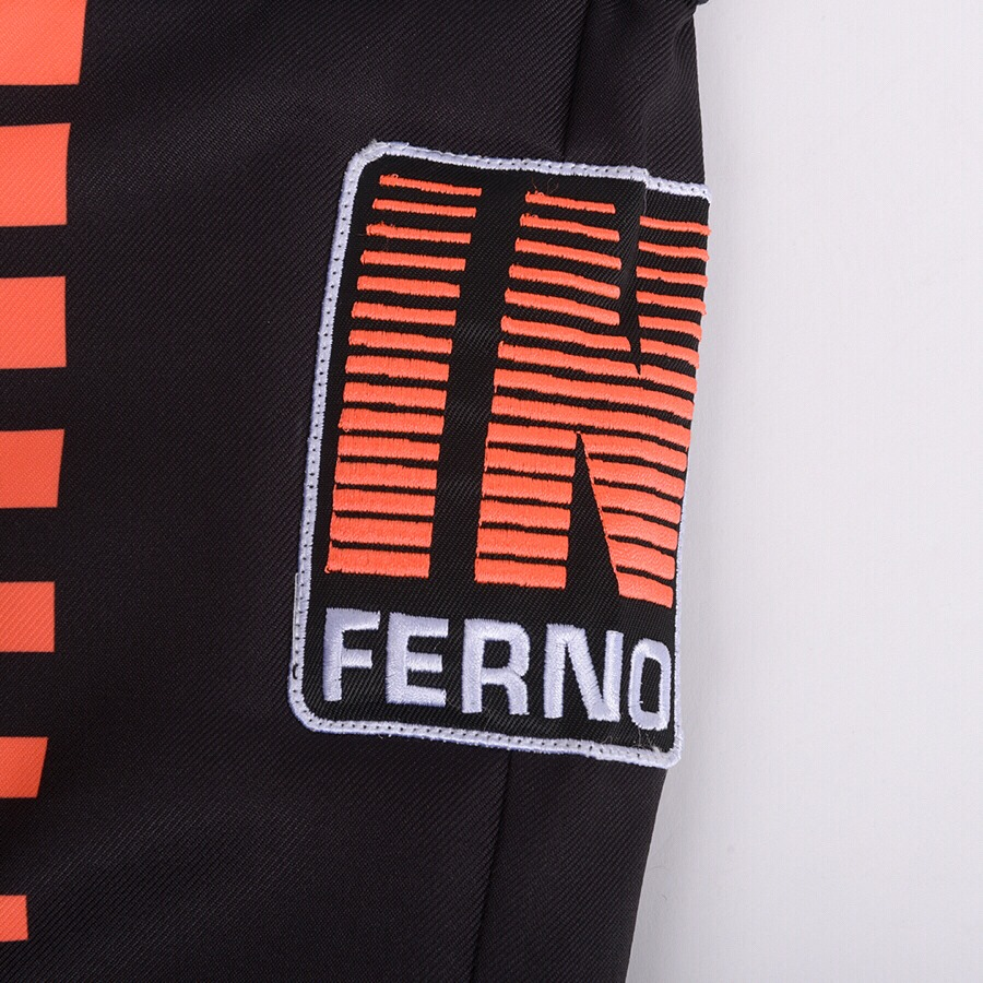 Unihoc Inferno Black/Neon Orange JR brankárske nohavice