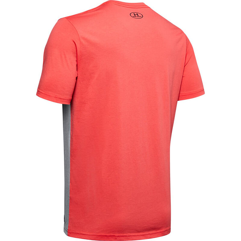 Under Armour Performance Apparel Color Blocked SS Red/Grey