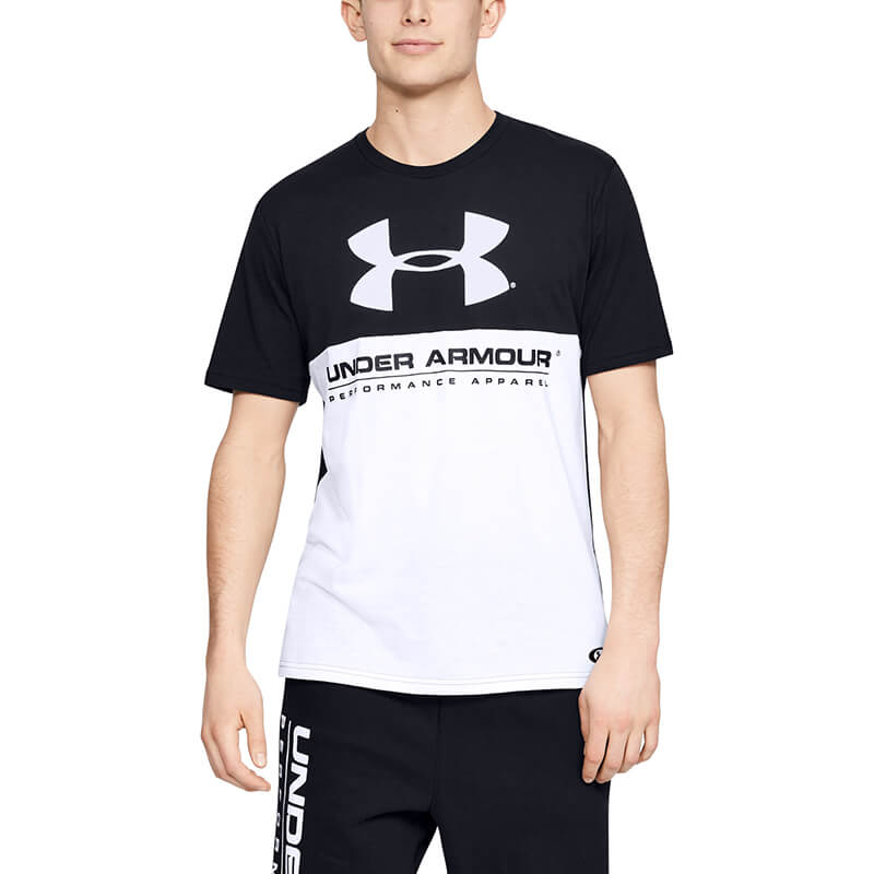 Under Armour Performance Apparel Color Blocked SS Black