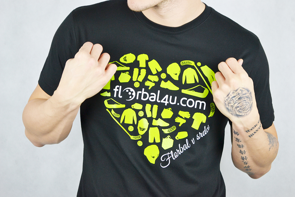Florbal4u Black T-shirt